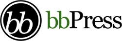 "Logo of the software ""bbPress""."
